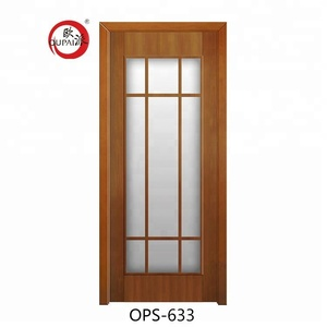New design low prices Bangladesh doors PVC MDF plywood interior toilet bathroom door