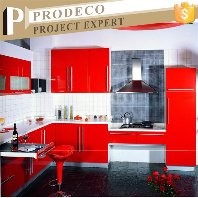 Waterproof Red Color High Gloss Acrylic Finish Kitchen Cabinet Buy High Gloss Acrylic Kitchen Cabinet Modern Style Kitchen High Gloss Finish Kitchen