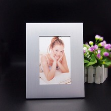 Custom Logo metal aluminum funia photo frame silver picture frame