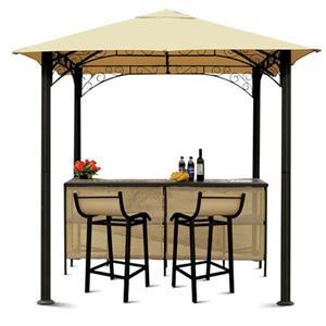 Elegant Outdoor Weather Patio Furniture Tiki Bar Gazebo Stools