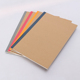 Competitive price recycle brown kraft paper cover school student erasable diary notebook custom printing