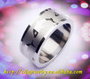 8MM shiny fish design stainless steel native american engagement ring