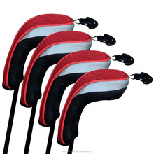Custom Golf Hybrid Club Head Covers Wood Driver Headcover Set of 4 with Number Tags