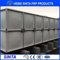 Made in China SMC,FRP material cool salt water storage tank
