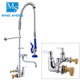"USA NSF UPC New Modern Design Commercial Industrial Kitchen Pre-rinse Unit Tap Faucet with 6"" Add-on Nozzle"