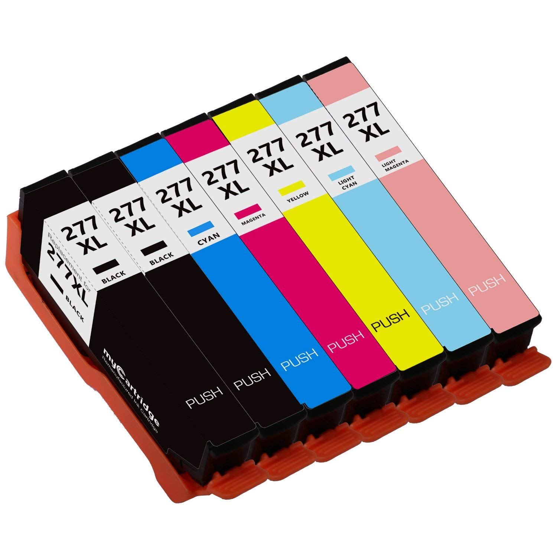 MYCARTRIDGE 277XL Remanufactured Ink Cartridge Replacement for Epson 277XL (Black,Cyan,Magenta,Yellow,Light Cyan,Light Magenta, 7-Pack)