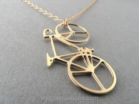 Wholesale Fashion Jewelry Gold Chain Design Bicycle Necklace for Men