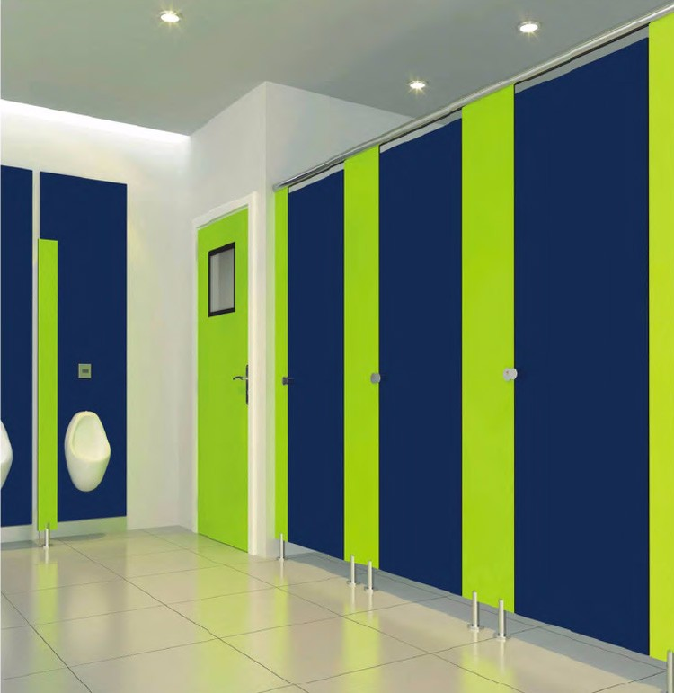 commercial formica laminate pvc board public compact Toilet Partition