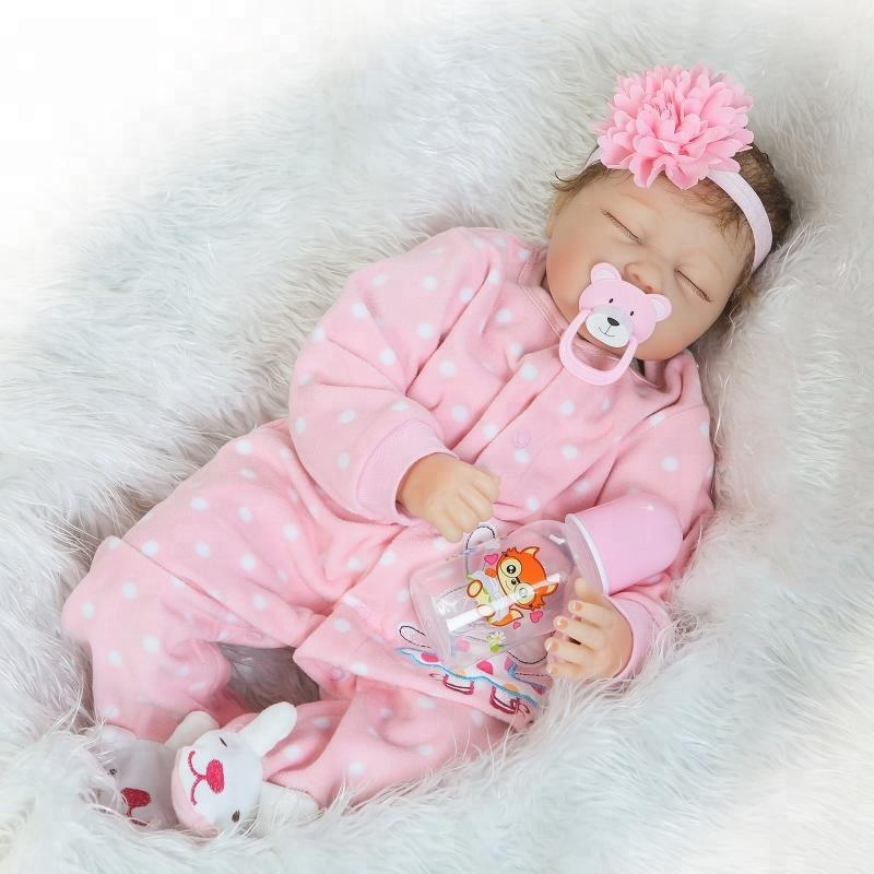 NPK Newborn Reborn Baby <strong>Dolls</strong> Silicone Cute Soft Babies <strong>Doll</strong> For Girls Princess Kid Fashion Bebe Reborn <strong>Dolls</strong> 55cm baby toys