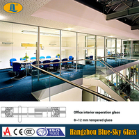 8mm office divider glass panels