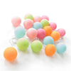 New Product Multicolor Wedding Home Bedroom Decor Holiday Decorative Cotton Balls Lights