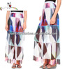 2015 latest design custom printing patterns long skirts