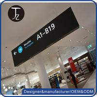 Casting Craftsamn Customized metal hang airport LED wayfinding signage