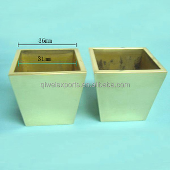 Brass Furniture Caster Square Cup For Furniture Leg 60077