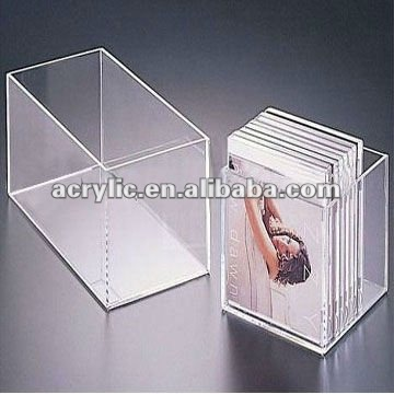 elegant acrylic cd holder box/acrylic cd holder rack display stand