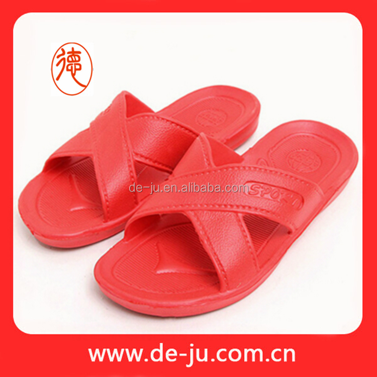 Cheap spa room plastic slippers women