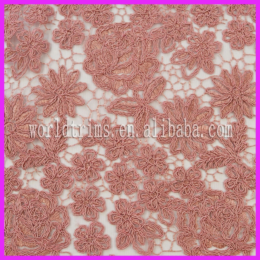 Manufacturer african lace fabrics high quality 5 yards for bridal WLF48
