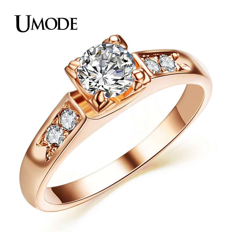 UMODE Top Selling High Quality Rose Gold Plated Fashion CZ