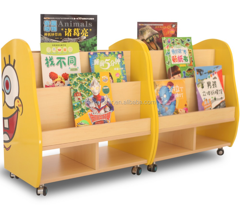 Great Kindergarten Furniture SpongeBob Shaped Wooden Bookshelf