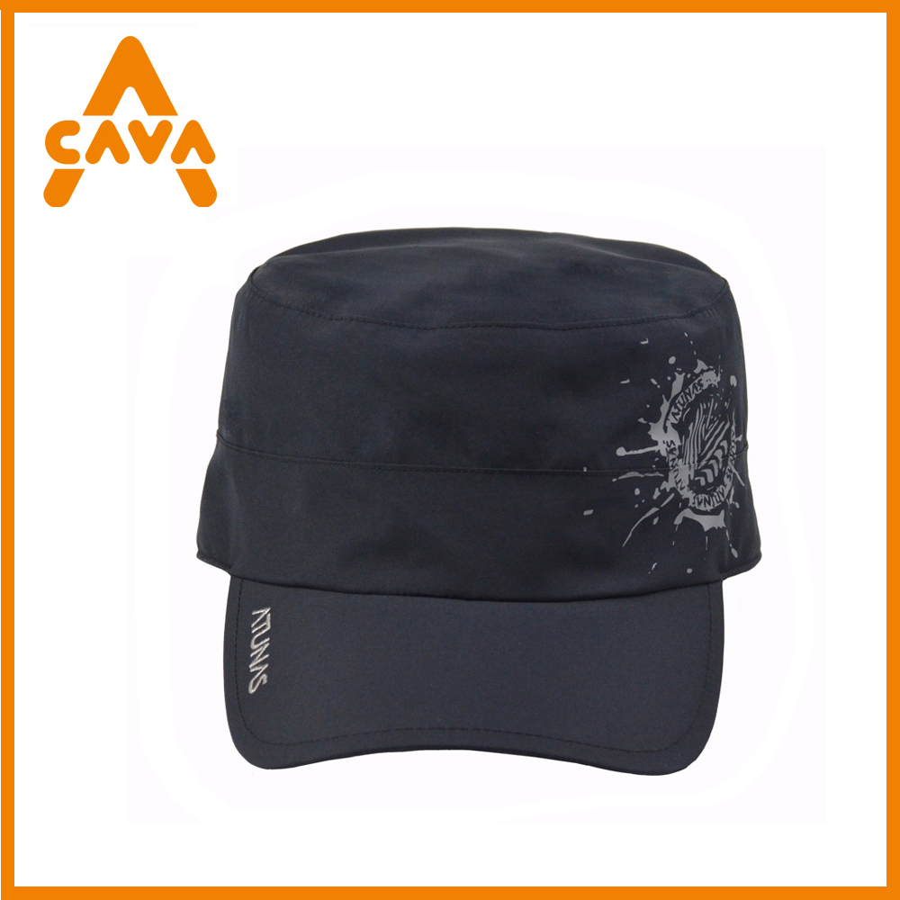 New outdoor waterproof sun visor plain baseball cycling solar hat cap with mesh lining