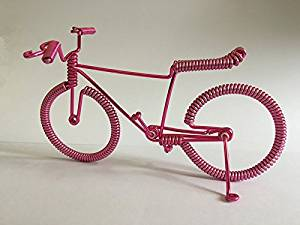 Get Quotations · Handcrafted Model Bike with, Unique Biking Birthday Gifts for Cyclists Metal Vintage Bicycle Art Decor