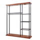 Online Boutique Shopping Fitting Wall Clothing Display Shelves Retail Store Furniture