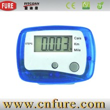 multifunctional pedometer promotional pedometer with clip step/disance calorie counter (PD-6012)