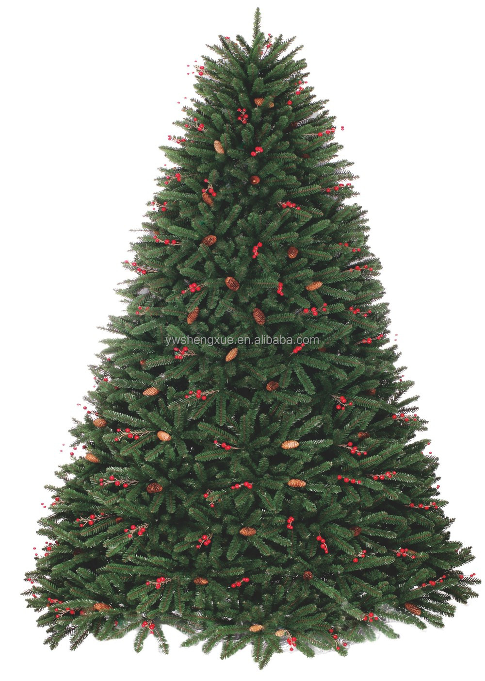 High Quality Rich Leaf 7ft Artificial Pine Cone Christmas Fat Tree Decoration