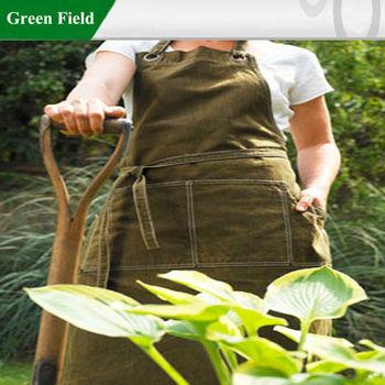 Green Field Garden Apron,Canvas Gardening Aprons