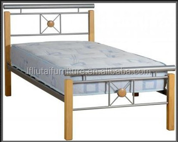 Metalen Frame Bed.Weten Down Metalen Frame Goedkope Bed Met Rubber Hout Post Buy