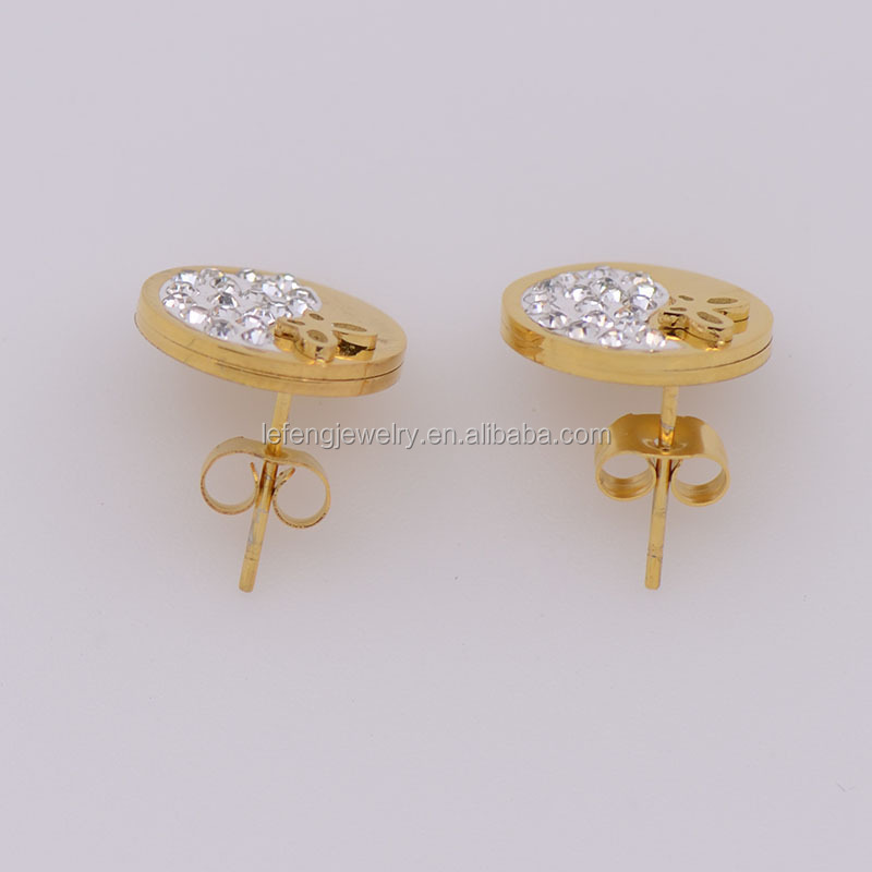 bezel round diamond at claudia designs endler stud gold look earrings