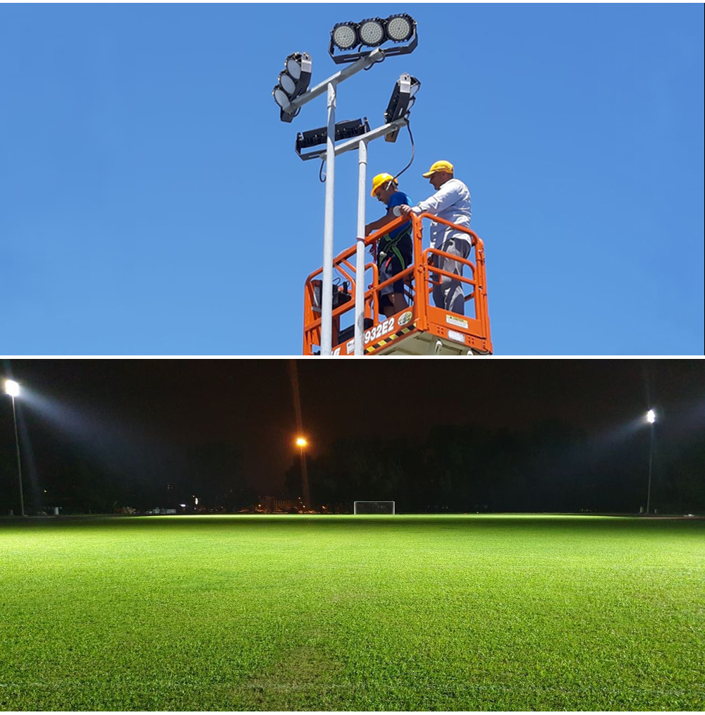 High quality outdoor professional stadium light 300w 320w led flood Light high mast lighting for court sports field