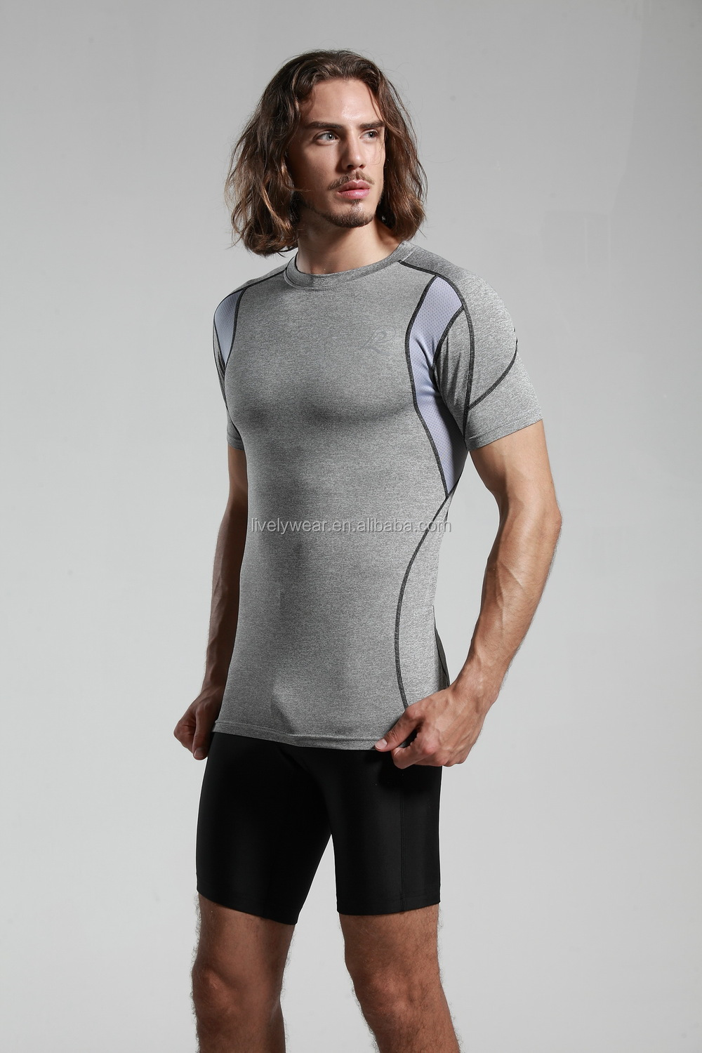 Lively-- Bodybuilding Custom Men's Compression Shirt Sports Fitness Apparel, Active Wear