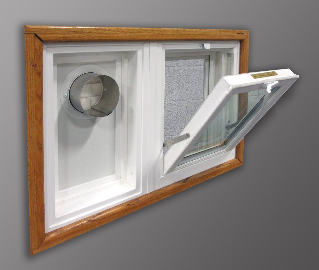 """Dryer Vent and Hopper Window (30""""w x 16""""h Left Side Vent*)"""