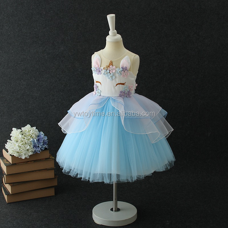 Fancy Boutique Girl Clothes Dress Baby Girl Birthday Party Dress Unicorn Tutu Dress