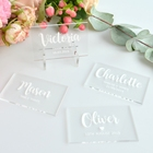 Wedding Place Cards Wedding Engraved Acrylic Clear Customize Logo Rectangle Wedding Invitation Place Cards
