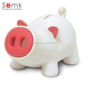 Novelty custom plastic fun piggy banks for kids