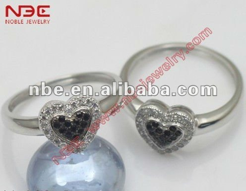 2015 Lovely heart shaped hot sale design high shine finished factory artisan crafted wholesale cheap 925 silver ring