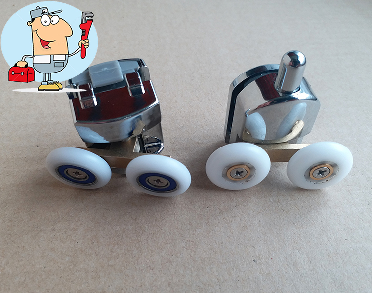 Chrome Shower Wheels Roller For Sliding Shower Doors