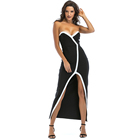 High quality tube top Split long evening dress backless sexy bandage dress clothes woman