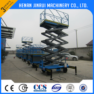 Good Price 10 M Four Wheels Mobile Hydraulic Lift Table Electric Portable Scissor Lifting Platform Equipment