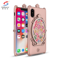 2017 Latest design mirror phone case for iphone x 10 ten cover case mirror case