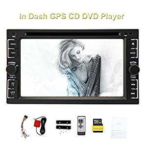 Universal 6.2 inch Double 2 Din Car DVD CD Player In-Dash Touch Screen Car Stereo Radio Ipod Bluetooth GPS Navigation