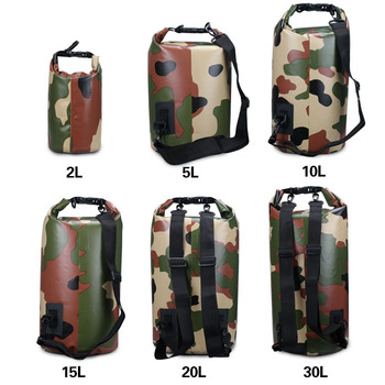 e0e6b81515 Camouflage 2L 5L 10L 15L 20L 30L tarpaulin PVC waterproof dry bag backpack