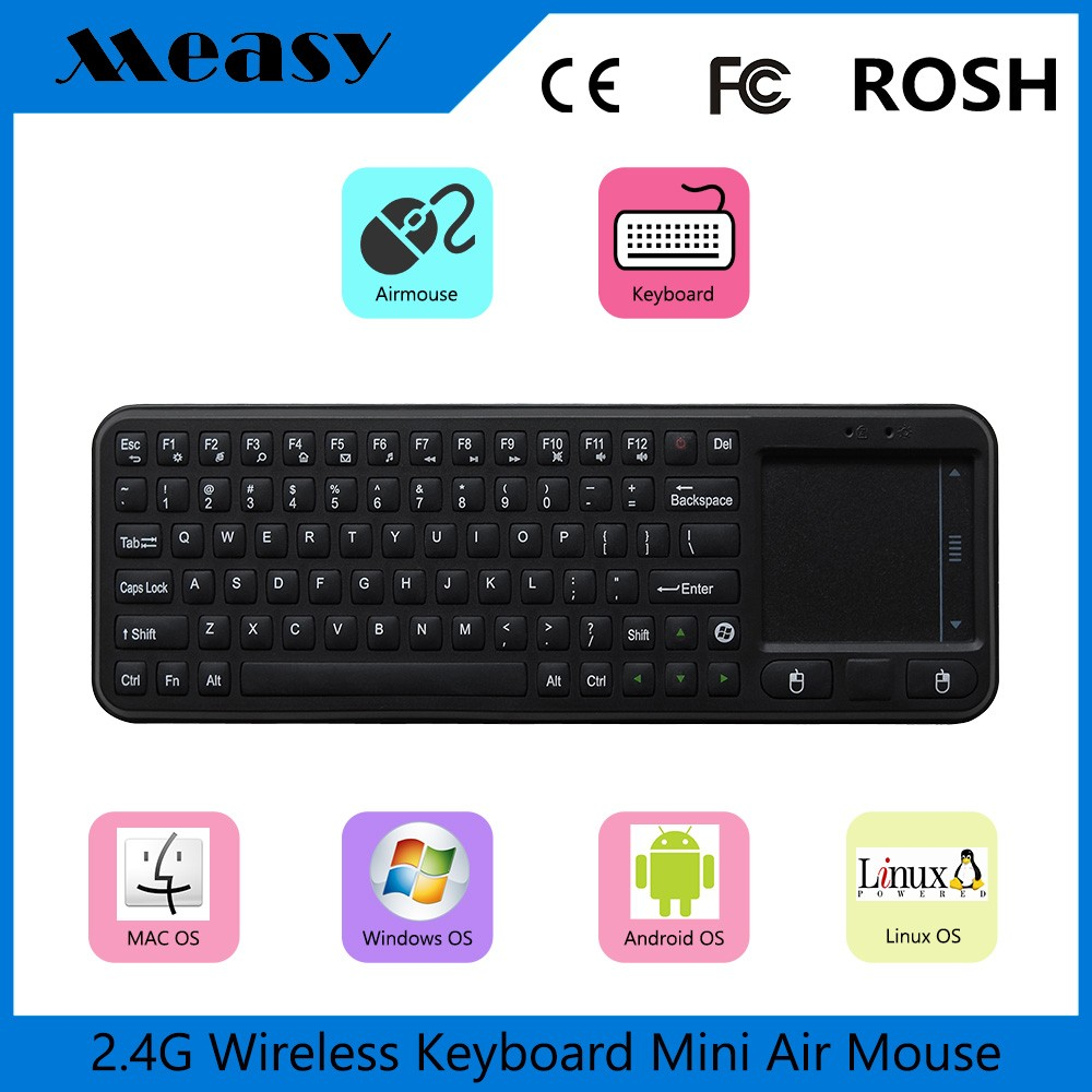 China wireless qwerty keyboard HTPC office casher education living room small control remote <strong>tv</strong> for smart <strong>tv</strong> <strong>set</strong> top box mini pc