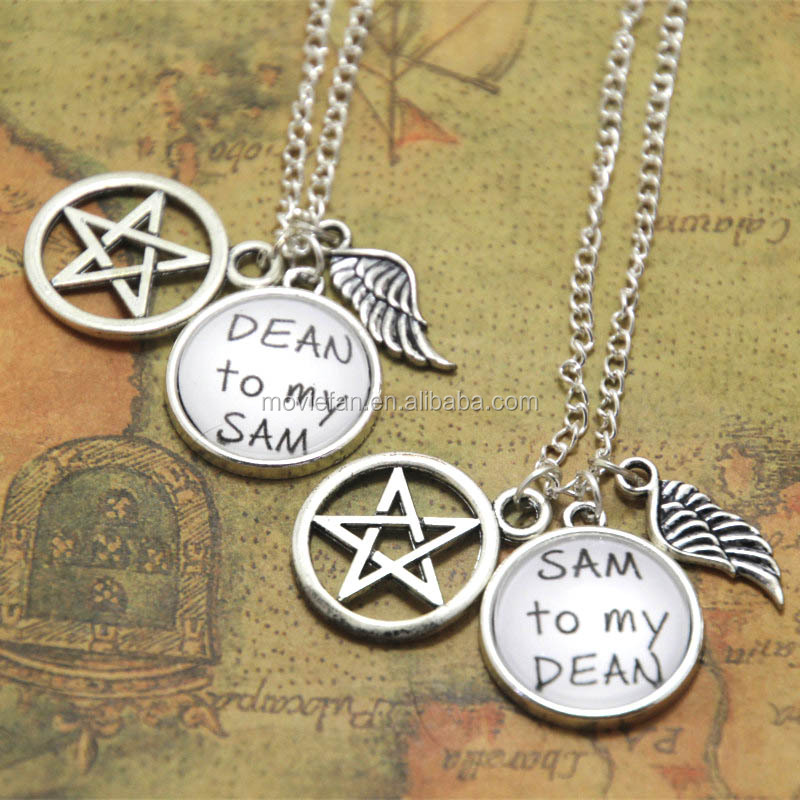 Sam To My Dean Best Friends Necklace SET Sam and Dean Necklaces Fandom Jewelry