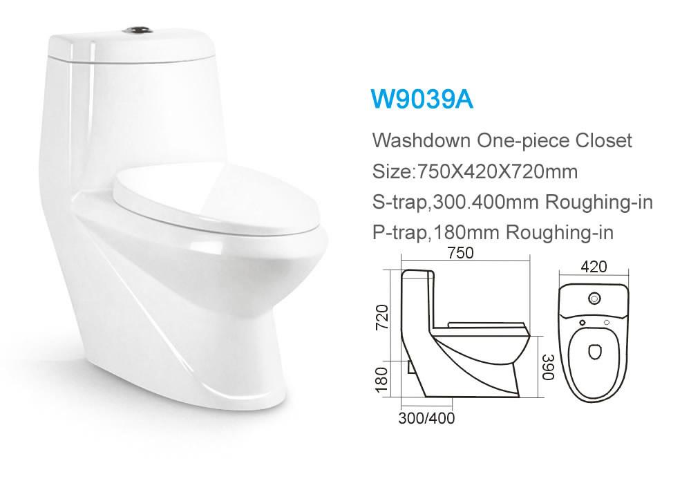 Building material western brand washdown color bathroom p for Bathroom p trap size
