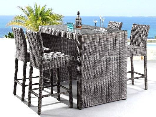 4 plazas lujo silla y mesa para piscina jard n al aire for Bar piscina lago jardin 1