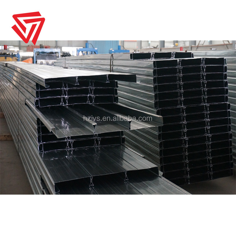 Steel deck institute(SDI) approved G450 galvanized metal material trapezoidal profile decking floor