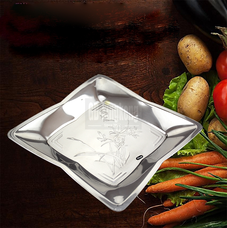 GUANGDONG-KINGKONG New Arrival  stainless steel golden Arabic serving tray/food tray